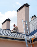 Repairing roof Royalty Free Stock Photography