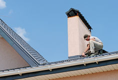Repairing roof Royalty Free Stock Image