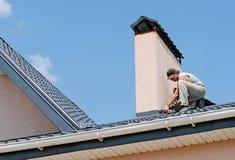 Repairing roof Royalty Free Stock Image