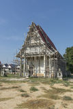 Repairing of temple in Thailand Royalty Free Stock Photos