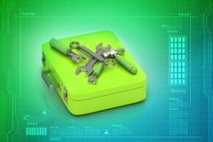 Repairing tools and box Stock Photos