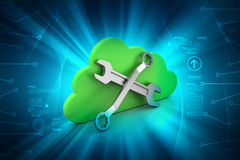 Repairing tools with cloud Stock Photography