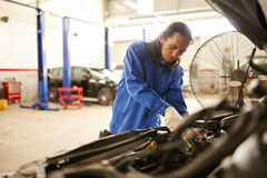 Repairing vehicle Royalty Free Stock Photo