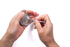 Repairing a watch Stock Photography