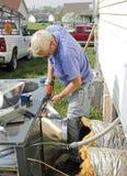 repairman кондиционирования воздуха Стоковые Изображения