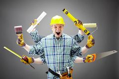 Repairman royalty free stock photos