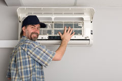 Repairman air conditioner Stock Photos