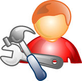 Repairman career icon or symbo Stock Images