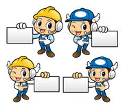 Repairman Character has been directed towards business card. Royalty Free Stock Photo