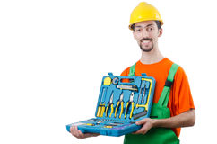 Repairman in coveralls - industrial concept Royalty Free Stock Photography