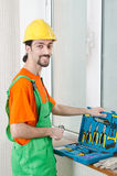 Repairman in coveralls - industrial concept Royalty Free Stock Photos