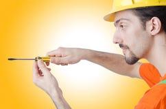 Repairman in coveralls Stock Image