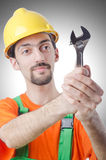 Repairman in coveralls Royalty Free Stock Photography