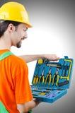 Repairman in coveralls Royalty Free Stock Photo