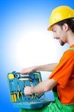 Repairman in coveralls Stock Images