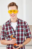 Repairman with a dril Royalty Free Stock Photos