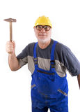 Repairman with hammer Royalty Free Stock Photos
