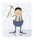 Repairman With Hammer Royalty Free Stock Photography