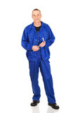 Repairman holding his wrench Royalty Free Stock Photo