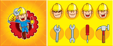 Repairman mascot Stock Photos