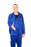 Repairman ready to handshake Stock Photos