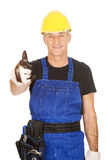 Repairman showing thumbs up Royalty Free Stock Image