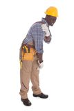 Repairman Suffering From Shoulder Pain Royalty Free Stock Image