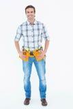 Repairman with tool belt around waist Royalty Free Stock Photo
