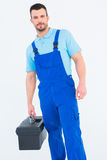 Repairman with toolbox Stock Photo