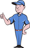 Repairman tradesman worker thumbs up Royalty Free Stock Photography