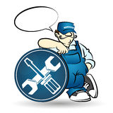 Repairman vector illustration Stock Images