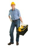Repairman wearing hard hat Royalty Free Stock Photos