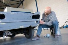Repairman at work royalty free stock images