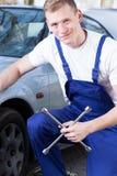 Repairman at work portrait Stock Photography