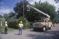 Repairmen кабельного телевидения Стоковое фото RF