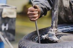 Repairs car service car suspension Royalty Free Stock Photo