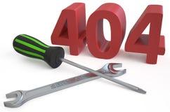 404 repairs concept Stock Photo