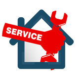 Repairs in the house symbol Royalty Free Stock Photography