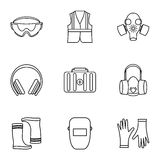 Repairs icons set, outline style Stock Photography