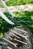 Reparação da bicicleta Imagens de Stock Royalty Free