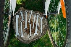 Reparação da bicicleta Foto de Stock Royalty Free