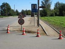 Reparação da estrada Fotos de Stock Royalty Free