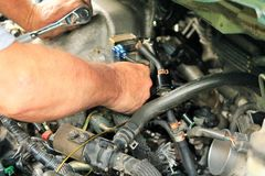 Reparação de automóveis imagens de stock royalty free