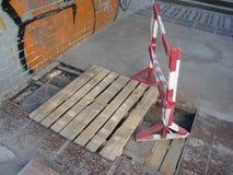 Reparação de comunicações da estrada Fotografia de Stock Royalty Free