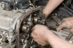 Reparação do motor Fotografia de Stock