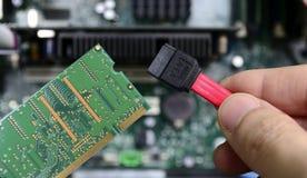 Reparação do técnico do computador Fotografia de Stock