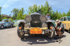 Reparación de Buick 25X 1929 años Fotos de archivo