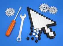 Reparación de desplome del ordenador ilustración del vector