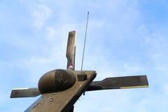Reparación de helicópteros Imagen de archivo libre de regalías