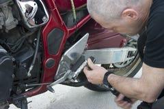 Reparación de la bici Fotografía de archivo